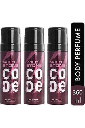 Wild stone Code Iridium Body Perfume Spray for Men 120ml (Pack of 3)