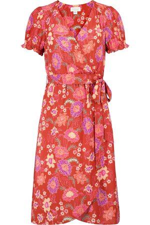 Velvet Meadow floral wrap dress