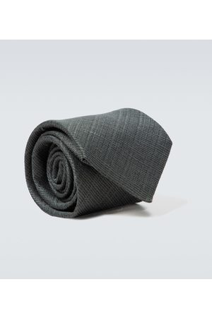 Tom Ford Linen and silk jacquard tie