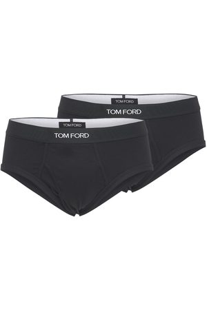 Tom Ford Pack Of 2 Logo Stretch Cotton Briefs