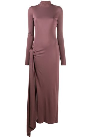The Attico Fitted front slit maxi dress