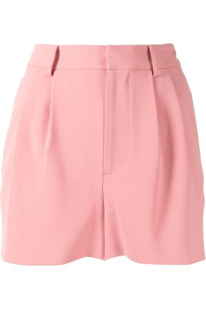 ALICE+OLIVIA Pleat-front high rise shorts