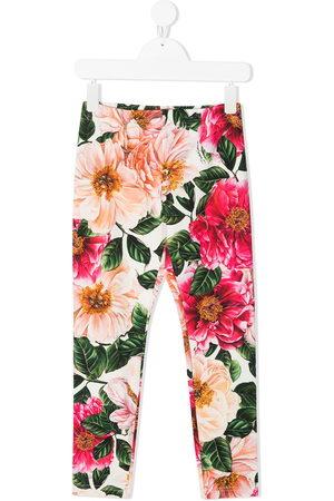 Dolce & Gabbana Floral-print cotton leggings