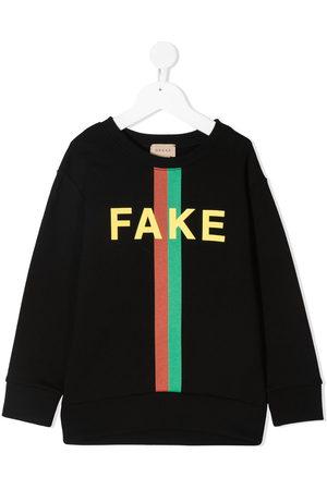 Gucci Fake/Not-print sweatshirt