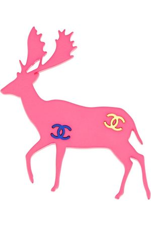 CHANEL 2001 CC deer brooch