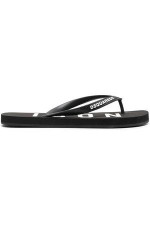 Dsquared2 Women Slippers - Logo-strap flip flops