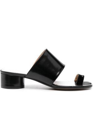Maison Margiela Women Toe Rings - Tabi toe-ring leather sandals