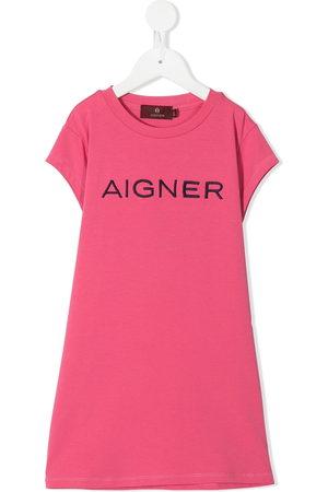 Aigner Logo-embroidered T-shirt dress