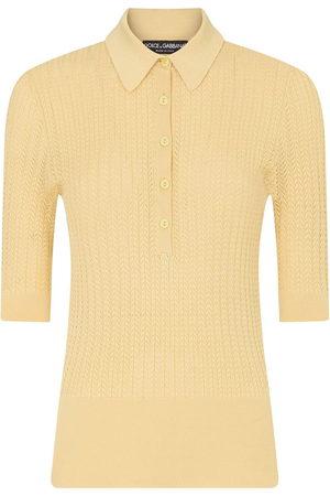 Dolce & Gabbana Women Polo Shirts - Knitted polo shirt