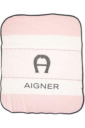 Aigner Colour-block logo blanket