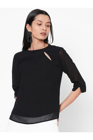 MISH Women Black Solid Top