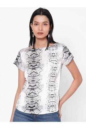 MISH Women White Printed Top