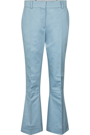 Marni Women Wide Leg Trousers - Cotton and linen flared pants
