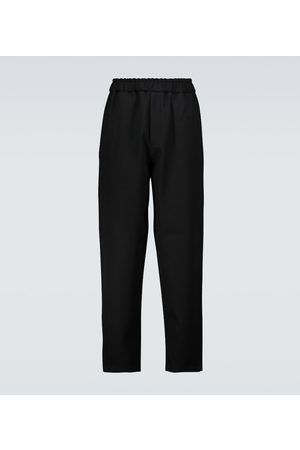 Jil Sander Men Formal Trousers - Flat front wool pants