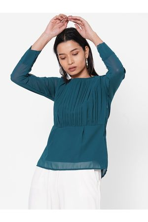 MISH Women Teal Solid Top