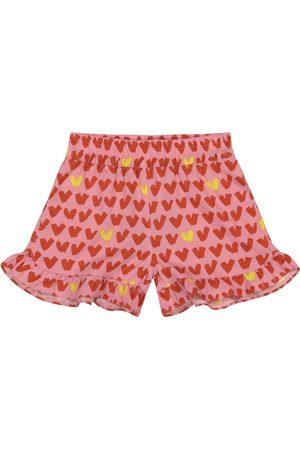 Stella McCartney Girls Printed Skirts - Heart-print shorts