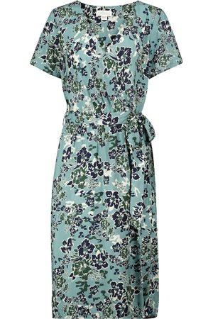 Velvet Rona floral wrap dress