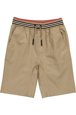 Burberry Boys Shorts - Icon Stripe cotton twill shorts