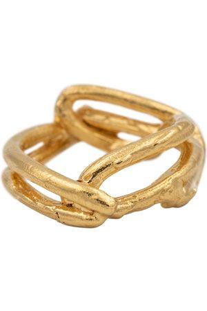 Alighieri The Beginning of the Plait 24kt vermeil ring