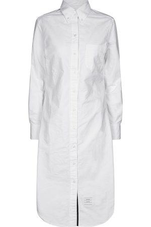 Thom Browne Women Casual Dresses - Cotton midi shirt dress