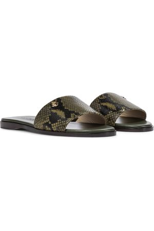 Jimmy Choo Minea snake-effect leather sandals