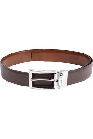Louis Philippe Men Belts - Men Brown Solid Reversible Leather Belt