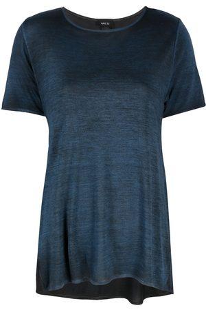 AVANT TOI Marl-knit side-slits T-shirt