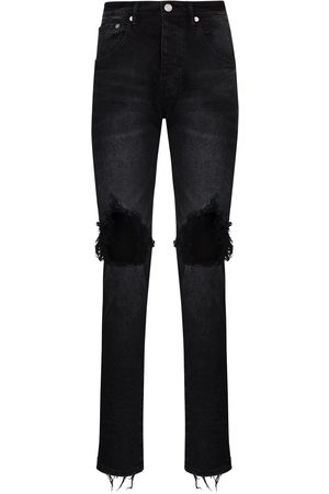 Purple Brand Wash Blowout slim leg jeans