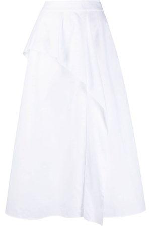 Agnona Ruffle front A-line maxi skirt