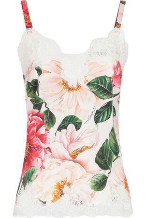 Dolce & Gabbana Floral lace-detail slip top