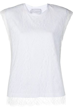 Serafini Lace-overlay tank top