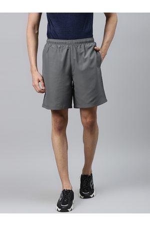 Alcis Men Grey Solid Regular Fit Sports Shorts