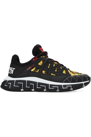 VERSACE Men Sneakers - Baroque Trigreca Logo Sneakers