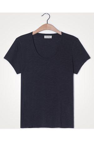 American Vintage Women T-shirts - Jacksonville U-Neck Carbon Grey T-Shirt