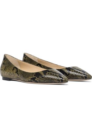 Jimmy Choo Women Ballerinas - Romy snake-effect leather ballet flats