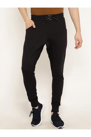 Punk Men Joggers - Men Black Solid Slim Fit Joggers