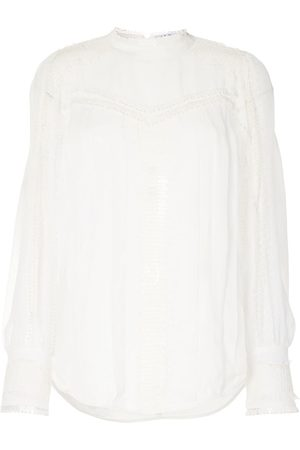 IRO Long-sleeved sheer lace blouse