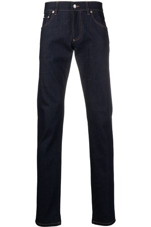 Dolce & Gabbana Men Slim - Debossed logo jeans