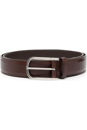 Brunello Cucinelli Smooth-leather buckle belt