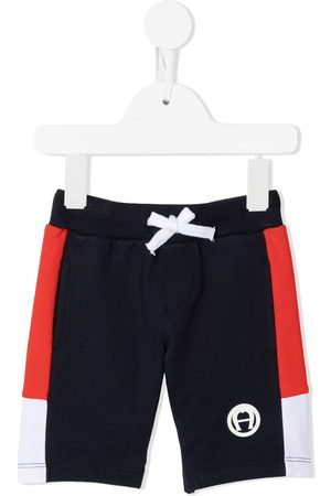 Aigner Colour-block track shorts