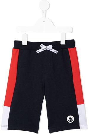 Aigner Logo patch shorts