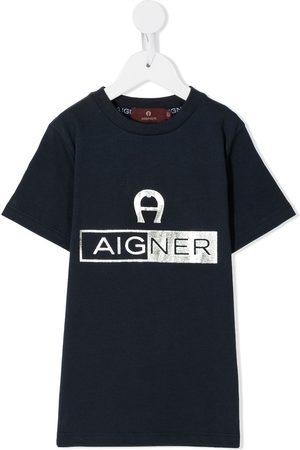 Aigner Metallic logo print t-shirt