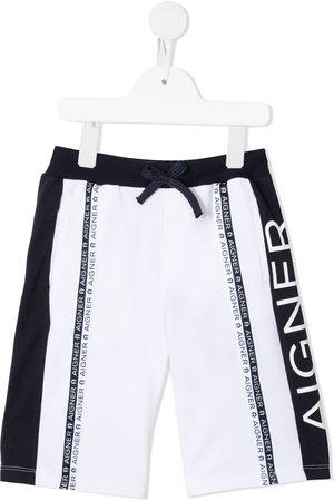 Aigner Logo stripe shorts