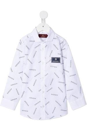 Aigner All-over logo print shirt