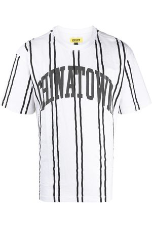 Chinatown Market Stripe print short-sleeved T-shirt