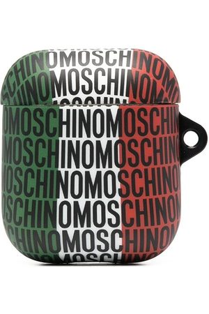 Moschino All-over logo print AirPods case
