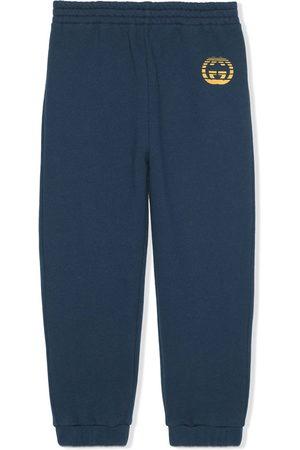 Gucci Logo-print cotton track pants