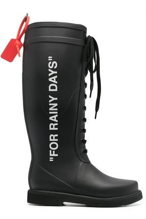 OFF-WHITE RAIN BOOT WHITE