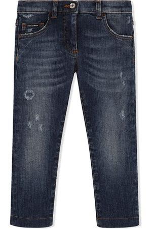 Dolce & Gabbana Girls Skinny - Distressed skinny-fit jeans