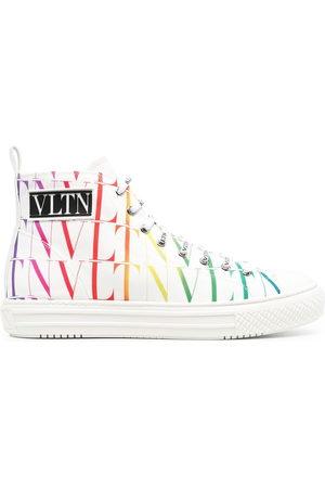 VALENTINO GARAVANI VLTN rainbow-logo high-top sneakers